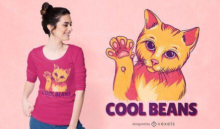 Diseño de camiseta cool beans