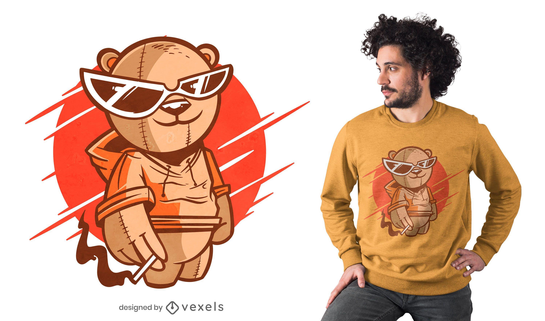 Sunglasses bear t-shirt design