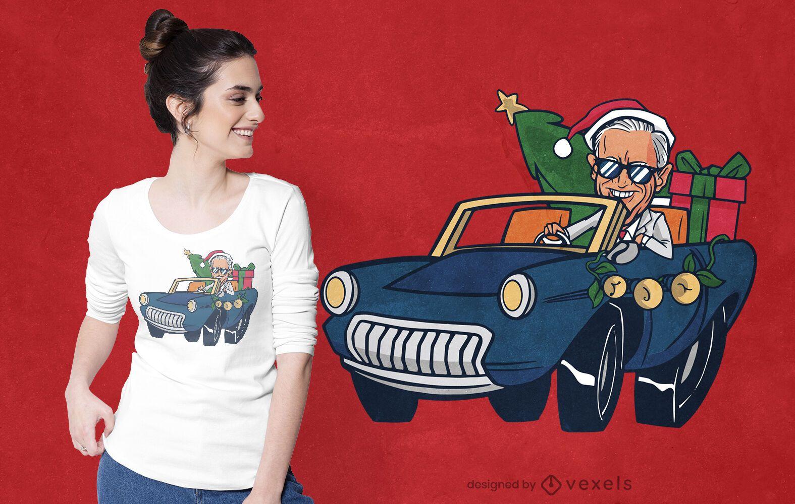 Christmas biden riding t-shirt design