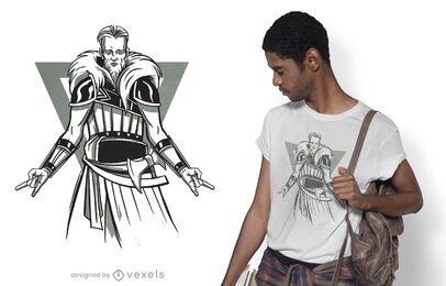 Heavy Metal Wikinger T-Shirt Design