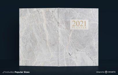 Design de capa de livro em mármore de 2021