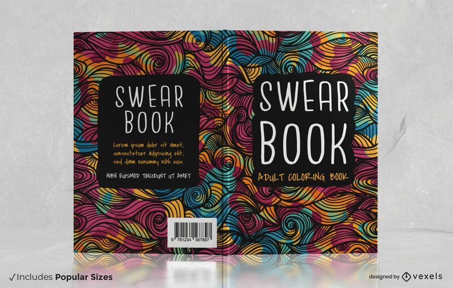 Swear book cover design