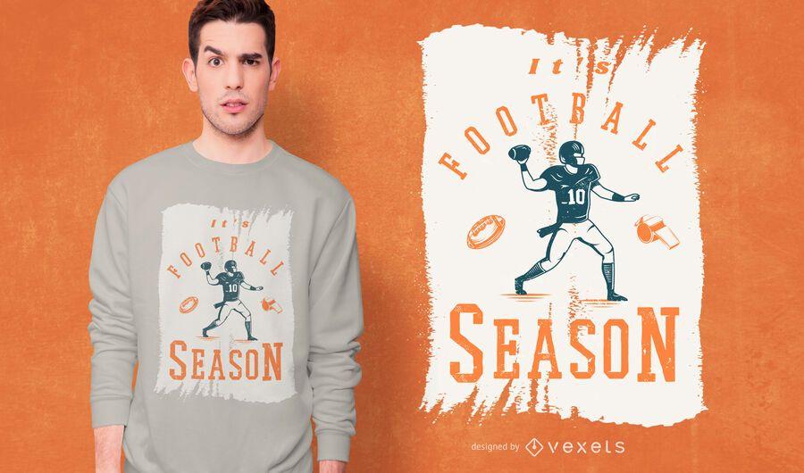 É o design de camisetas da temporada de futebol