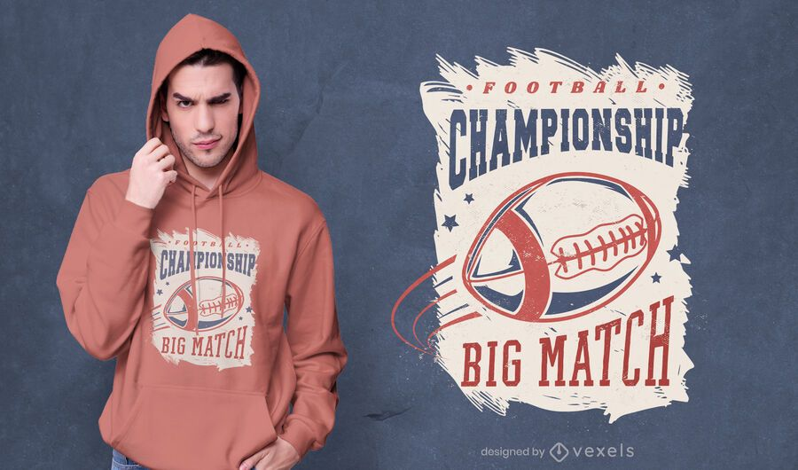 Diseño de camiseta de campeonato de fútbol.