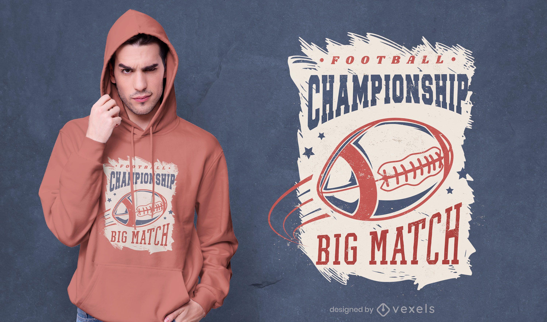 Football championship t-shirt design