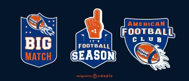 Conjunto de emblemas da temporada de futebol