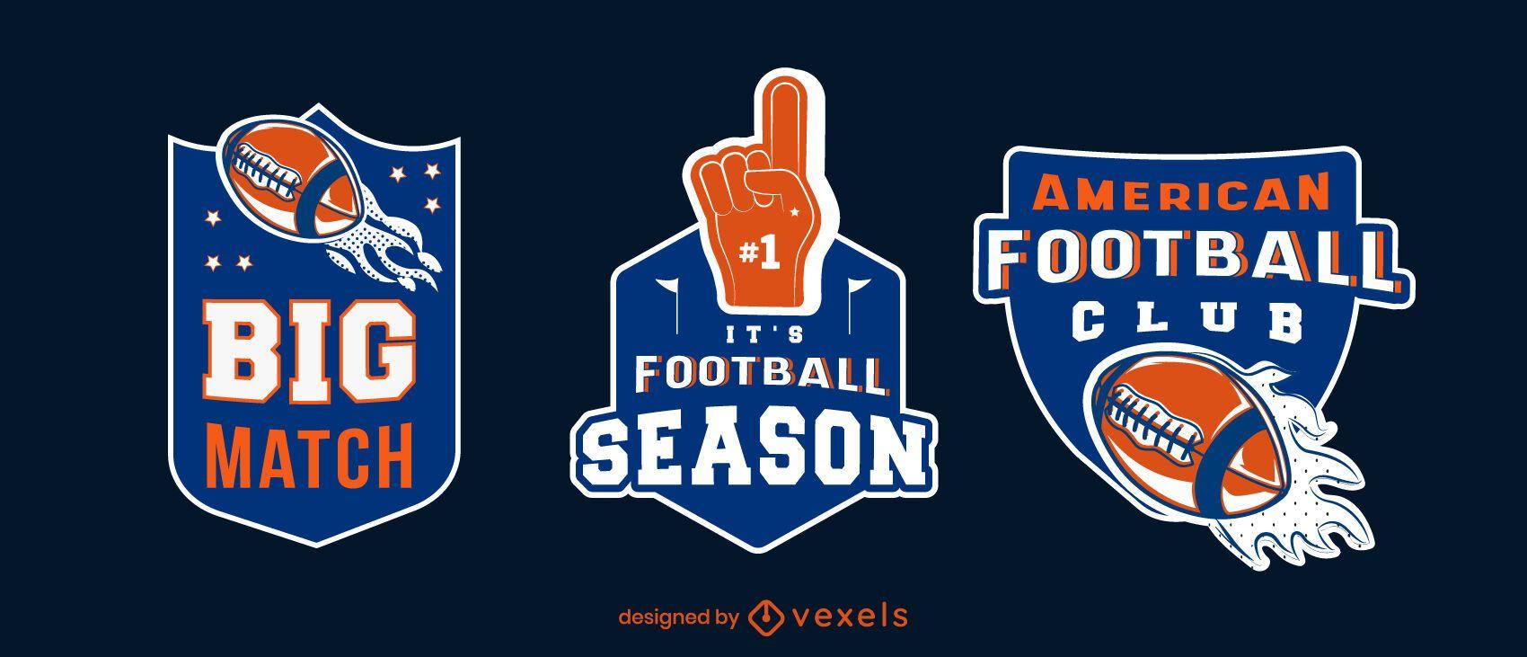 Conjunto de insignias de la temporada de fútbol
