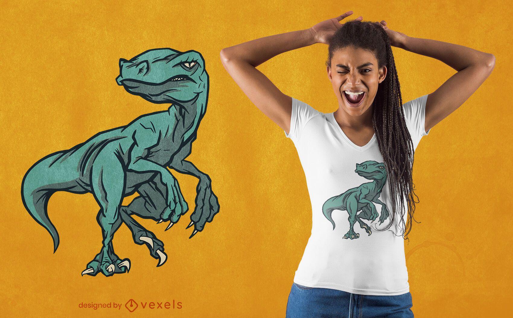 Raptop dinosaur t-shirt design