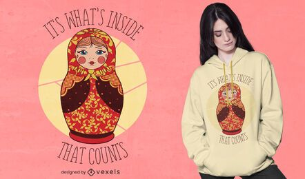 Matryoshka quote t-shirt design