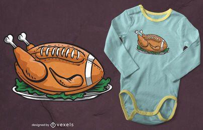 Design de camiseta de futebol da Turquia