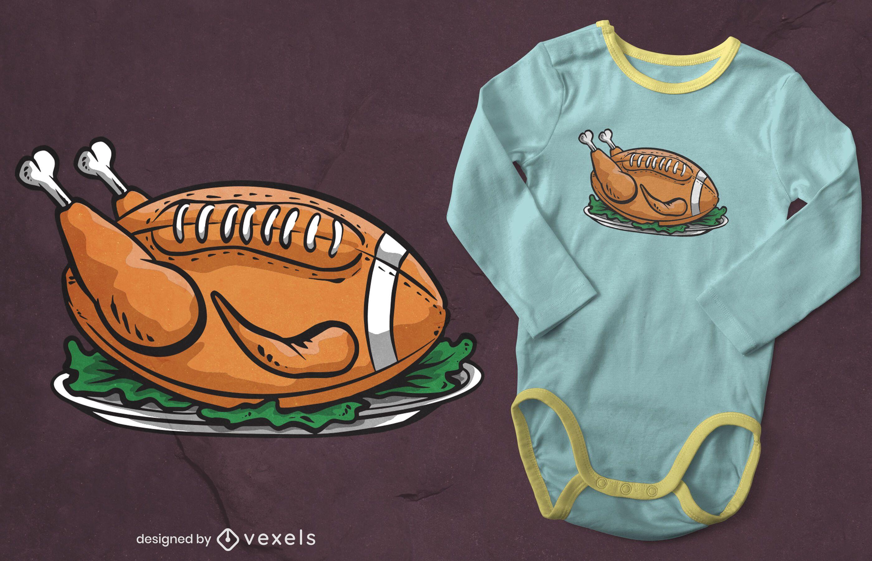 Turkey football t-shirt design