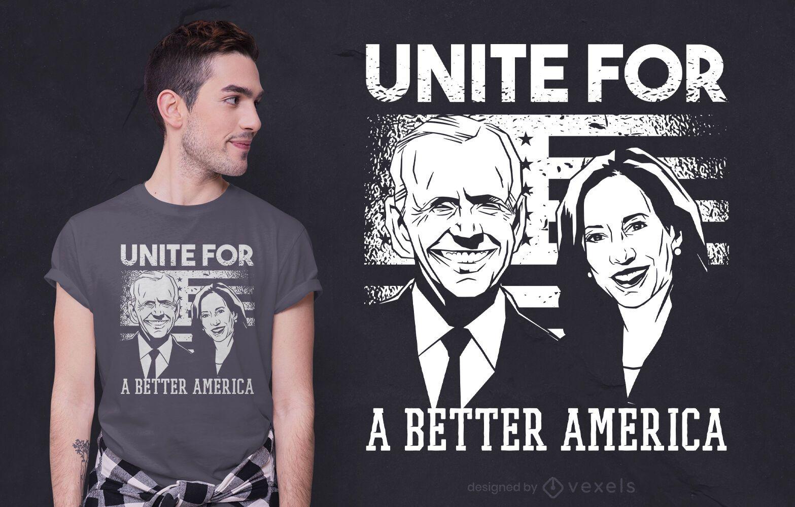 Um design melhor de camiseta america