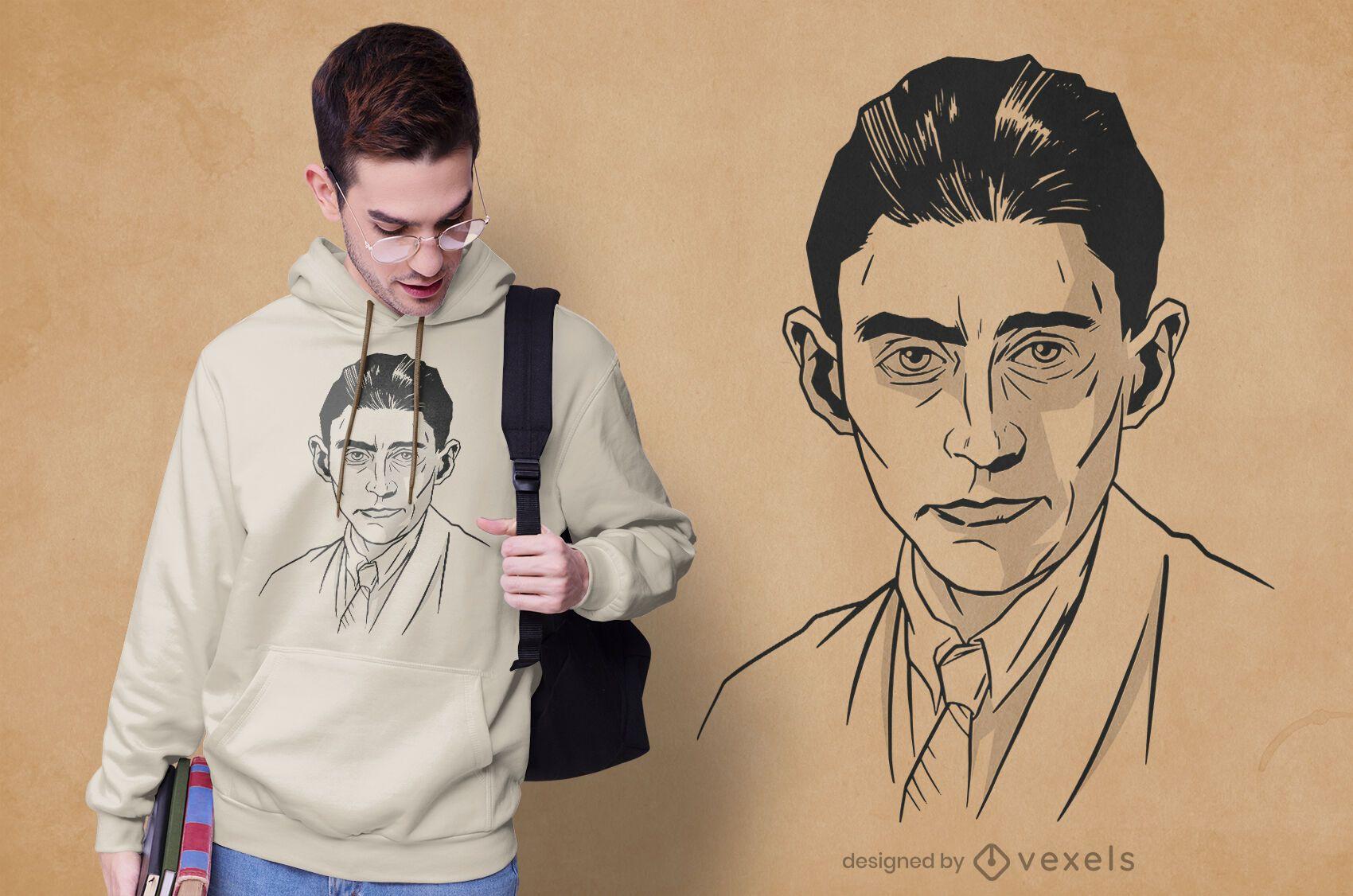 Diseño de camiseta de franz kafka