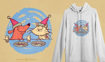 Design de camisetas de animais de estimação