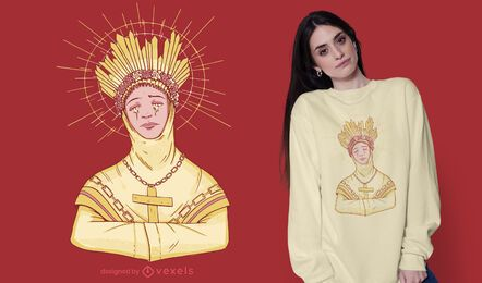 Design de camisetas Lady of La Salette