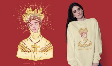 Diseño de camiseta Lady of La Salette