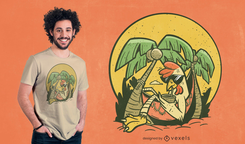 Relaxed chicken t-shirt design