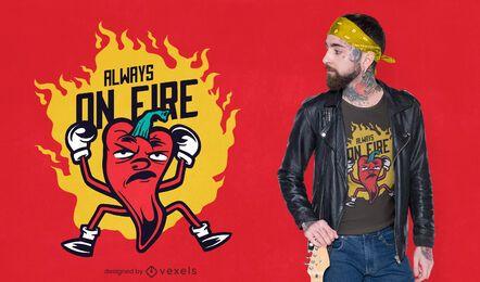 Sempre pegando fogo no design de camisetas