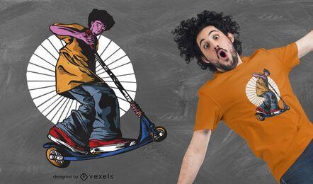 Diseño de camiseta scooter guy