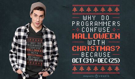 Programmer holidays t-shirt design