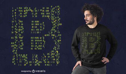Codificación de diseño de camiseta de bitcoin