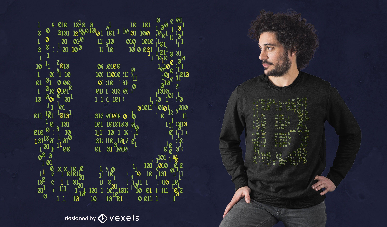 Coding bitcoin t-shirt design