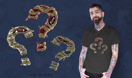 Design de camisetas de mamãe com pontos de interrogação