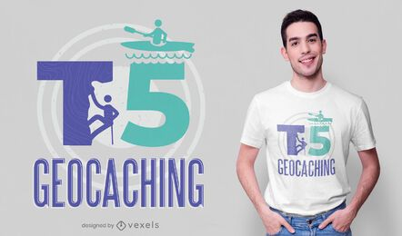 Design de t-shirt geocaching T5