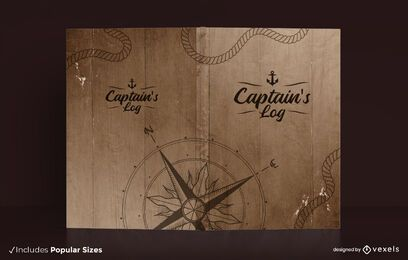 Captain's log book cover design