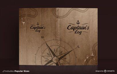 Design da capa do diário de bordo do capitão