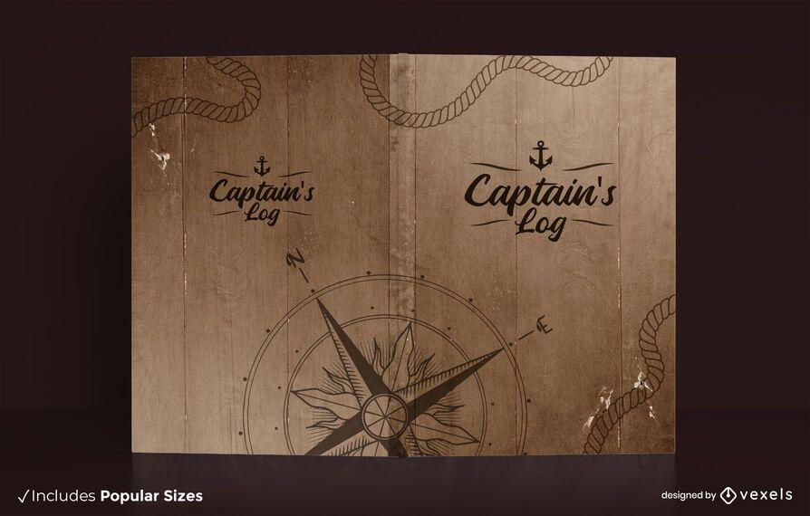 Captain's log book cover design