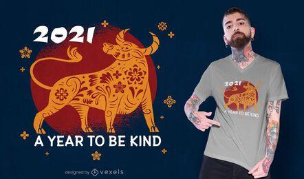 Año para ser amable diseño de camiseta.