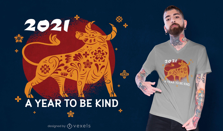 Ano para ser o design de camisetas gentis