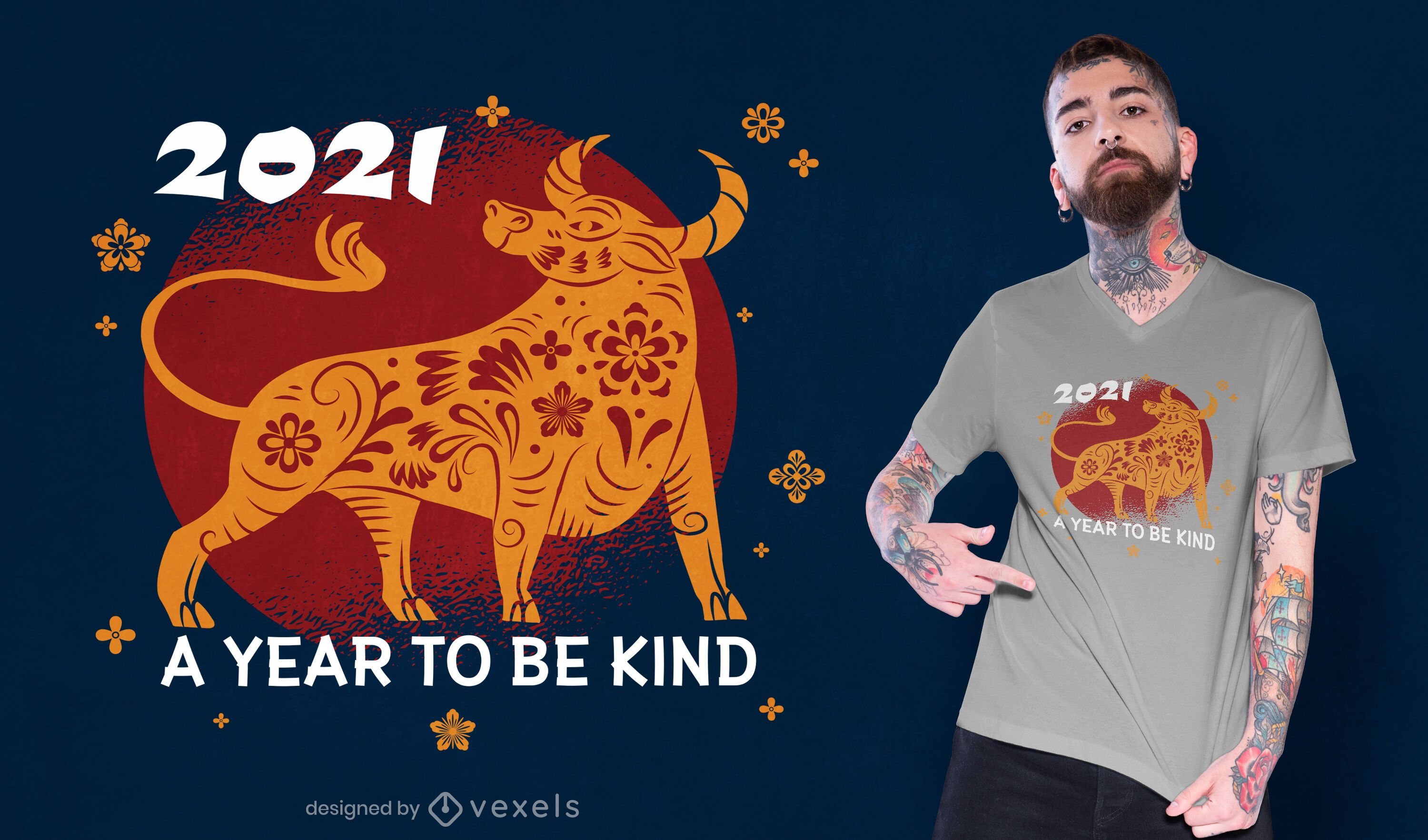 Year to be kind t-shirt design