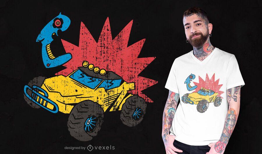 Diseño de camiseta de coche de control remoto.