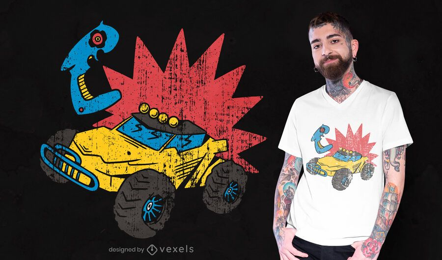 Remote control car t-shirt design