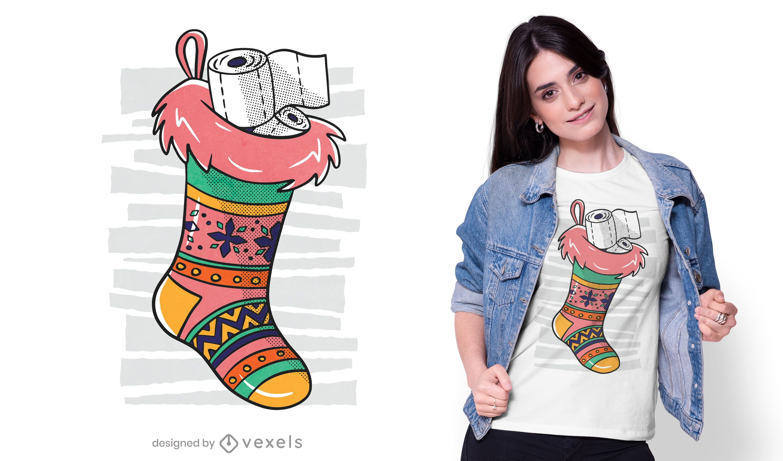 Toilet paper sock t-shirt design