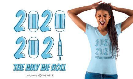 Design de camisetas 2020 vs 2021