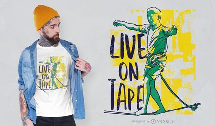 Live on tape design de camisetas