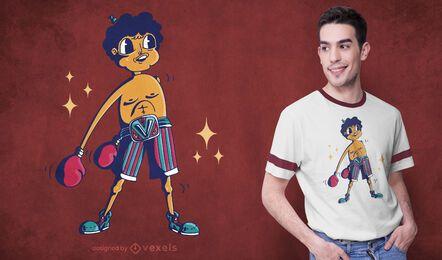 Boxer floss t-shirt design