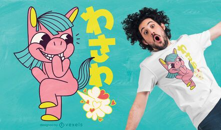 Unicorn fart t-shirt design
