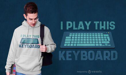Juego diseño de camiseta de teclado