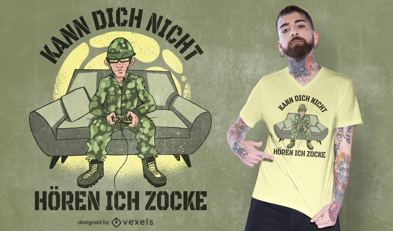 Gaming soldier t-shirt design