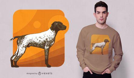 English pointer dog t-shirt design