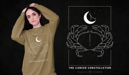 Cancer constellation t-shirt design