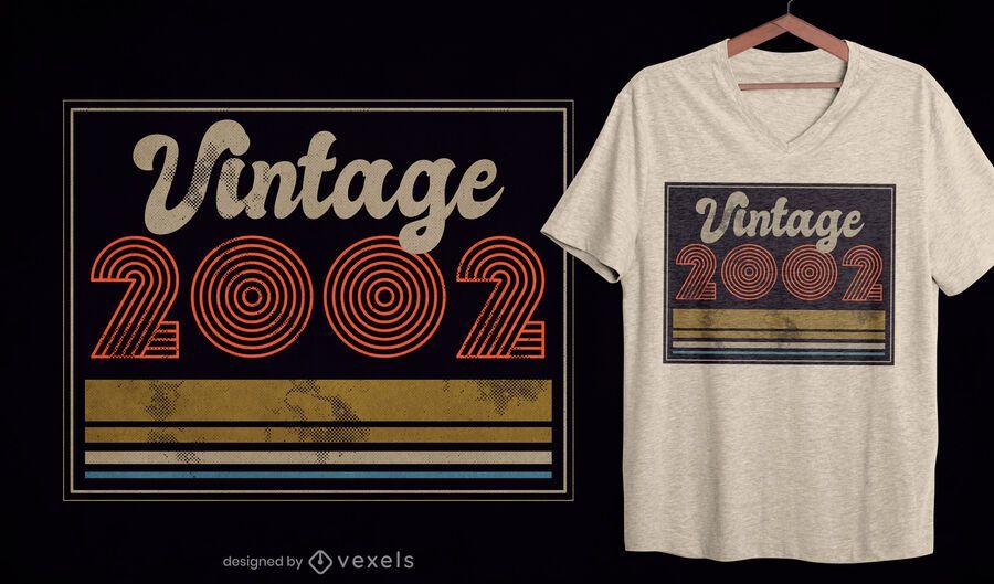 Vintage 2002 t-shirt design