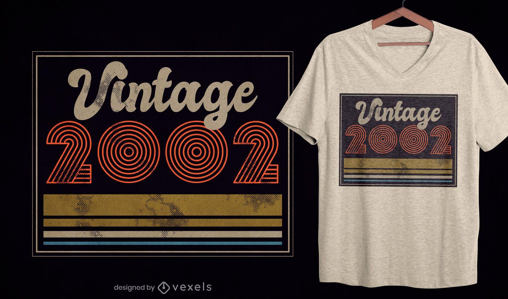 Diseño de camiseta vintage 2002