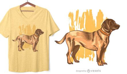 Diseño de camiseta German Bloodhound Dog
