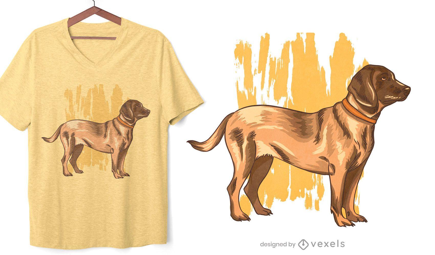 Design de camiseta do cão Bloodhound alemão