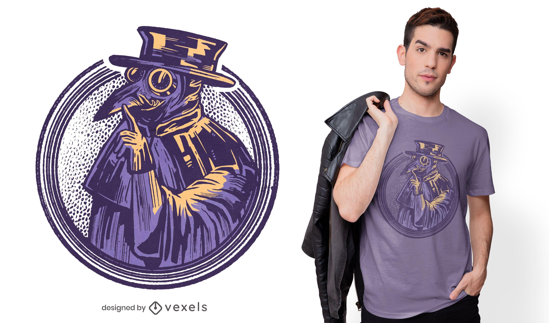 Diseño de camiseta Silence Plague Doctor.
